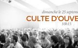 Culte d'Ouverture 2016